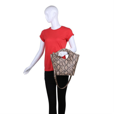 Urban Expressions Medusa Handbags 840611152053 | Natural
