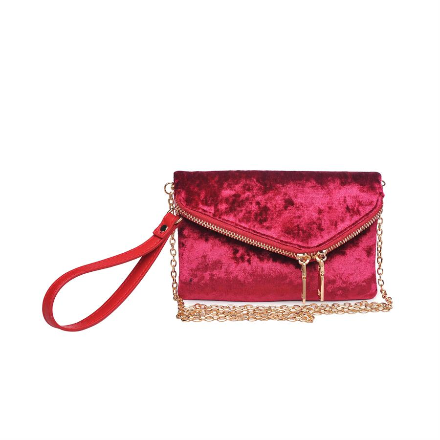 Urban Expressions Lucy – V Clutches 840611149206 | Cranberry