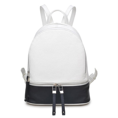 Urban Expressions Ashleigh Backpacks 840611124838 | White/Black