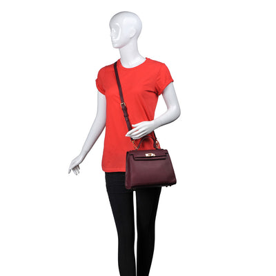 Urban Expressions Alexis Women : Handbags : Satchel 840611154217 | Oxblood