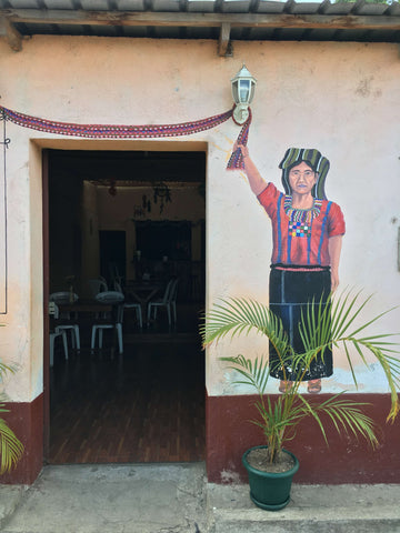 painted mural on a building on Guatemala