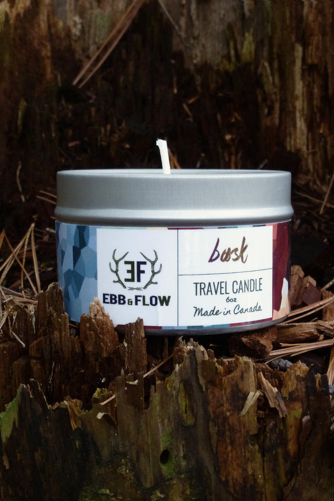 Lavender Soy Wax Travel Candle - Bask
