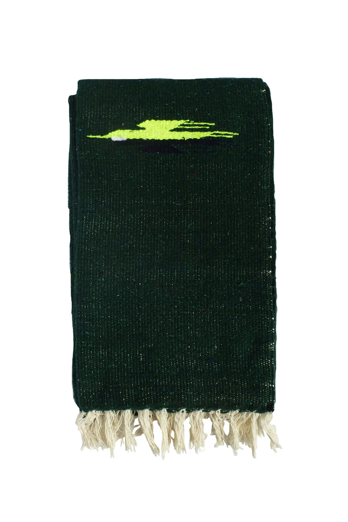 Black Thunderbird Blanket - Green
