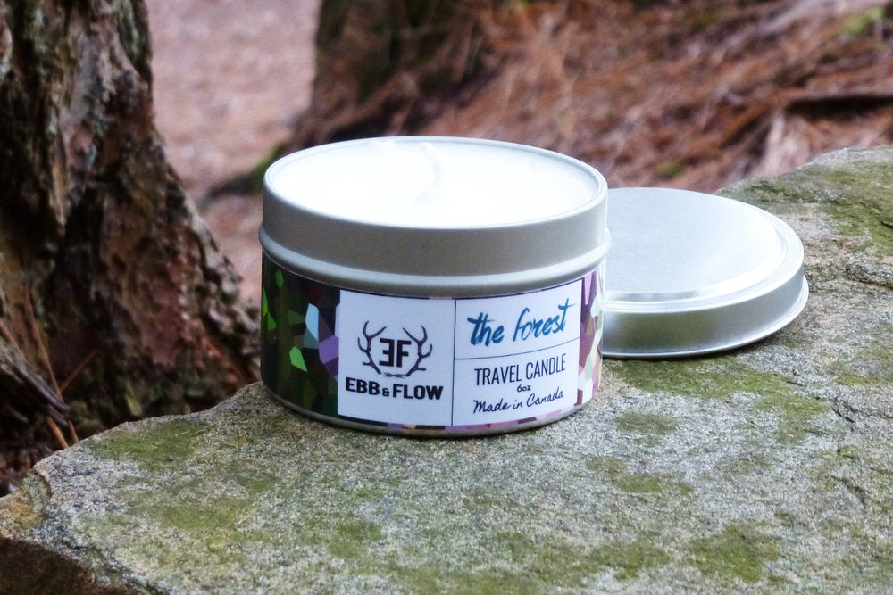 Light Steel Blue Soy Wax Travel Candle - The Forest