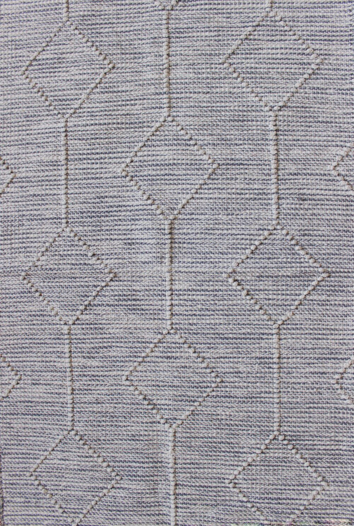 Dark Gray Palmas Handwoven Cotton Rug - Richcasa Imports