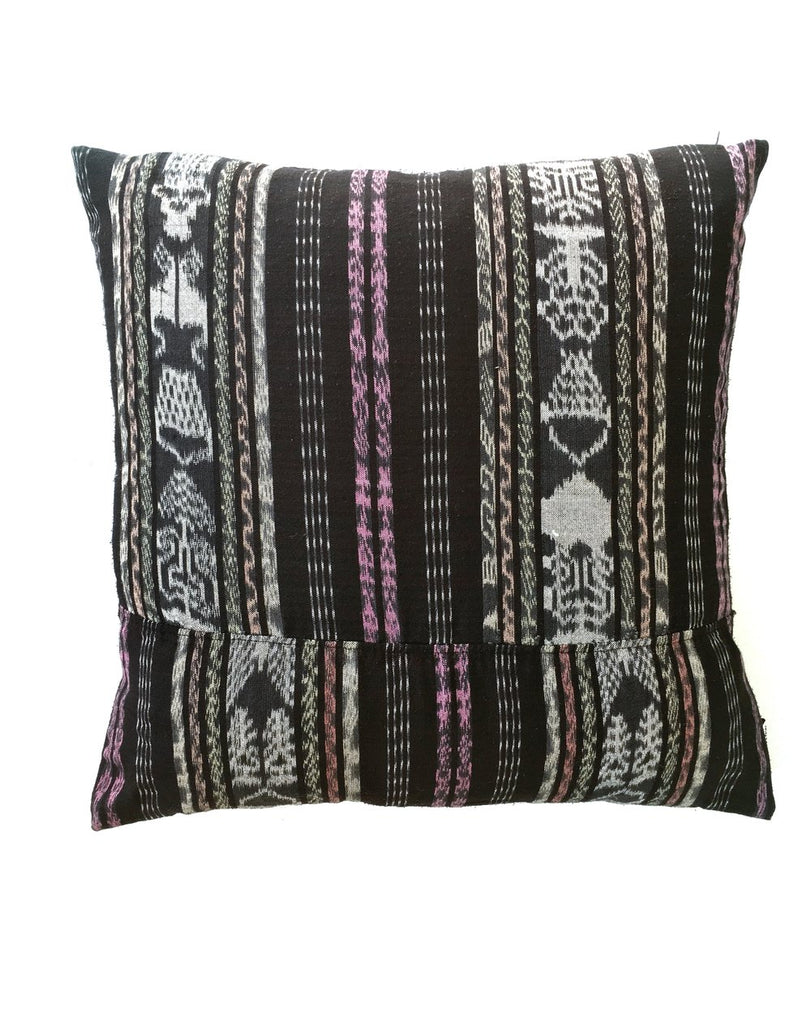 Dark Slate Gray Vintage Corte Accent Pillow - Palomino
