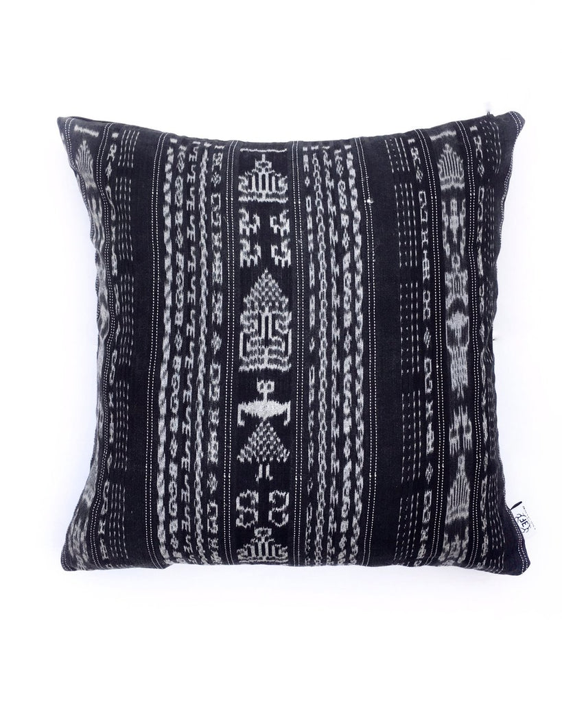 Dark Slate Gray Vintage Corte Accent Pillow - Nala