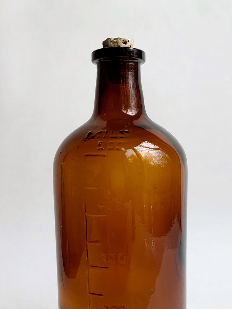 Saddle Brown Vintage Amber Javex Bottle
