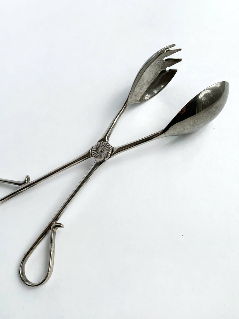 Dim Gray Vintage Silver Serving Spoons