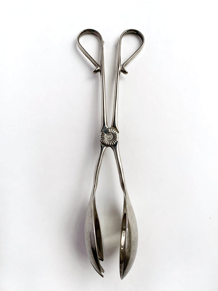 Gray Vintage Silver Serving Spoons