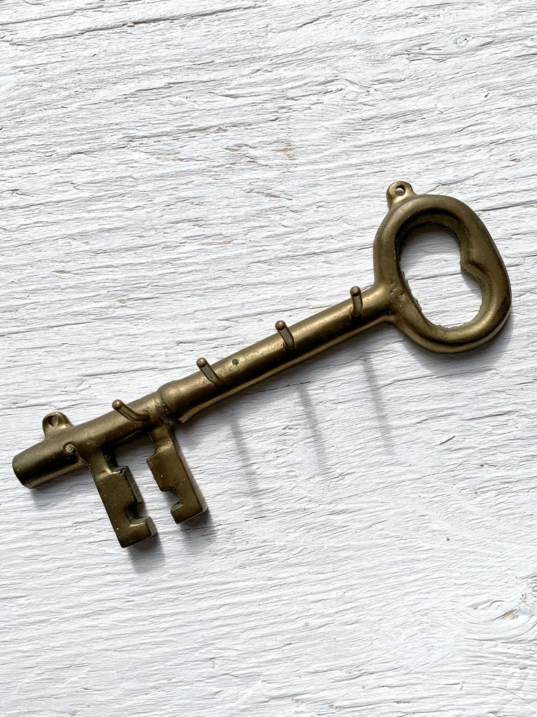 Vintage Brass Key Holder
