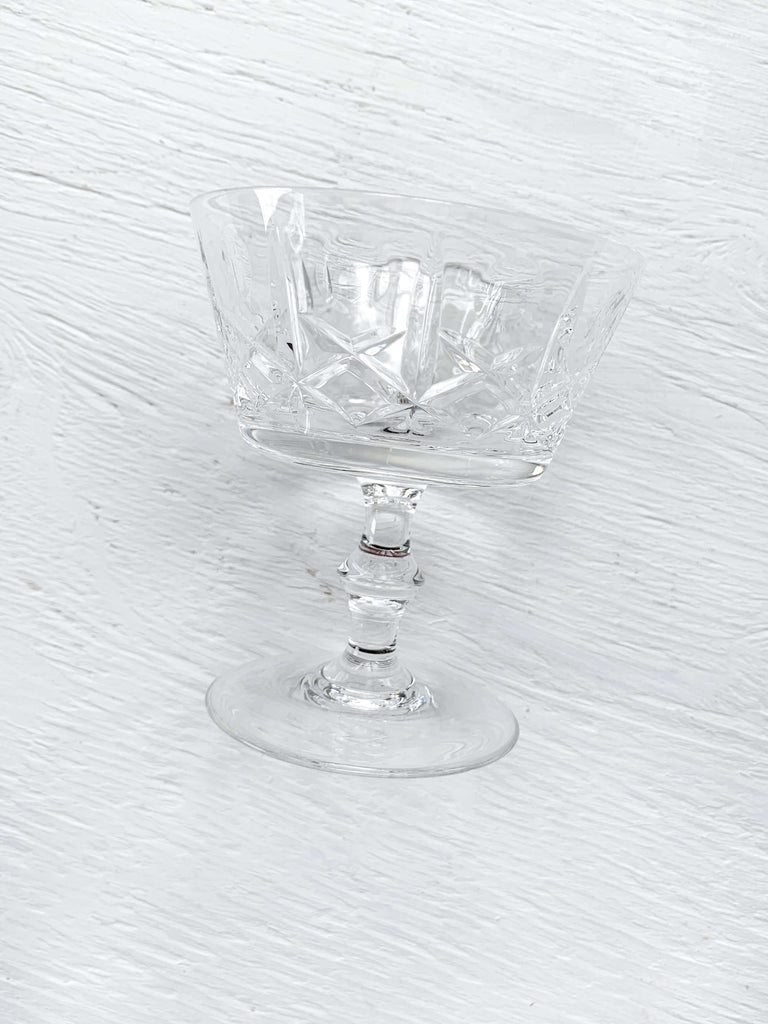 Vintage Crystal Coupe Glasses - Set of 2