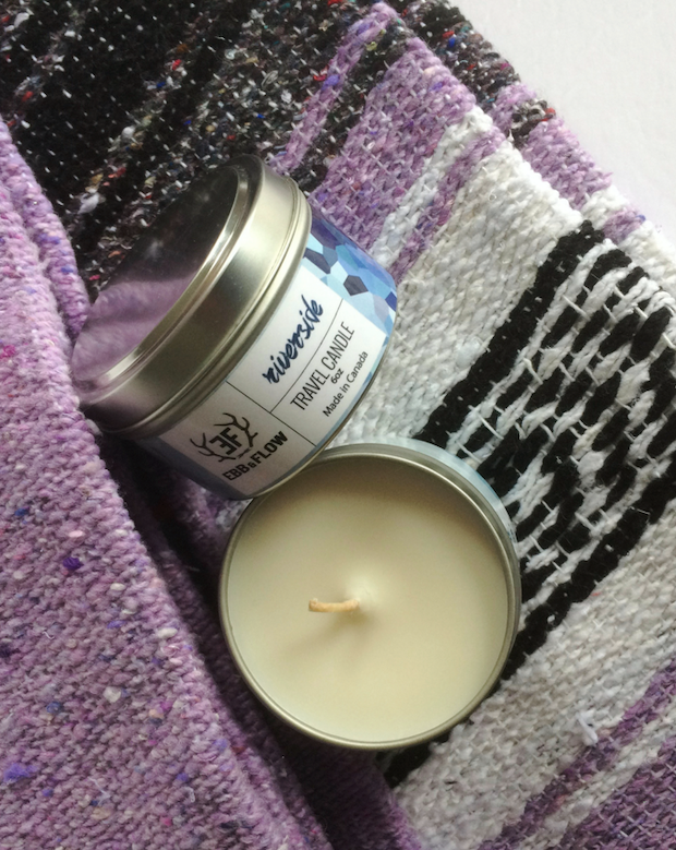 Tan Soy Wax Travel Candle - Riverside
