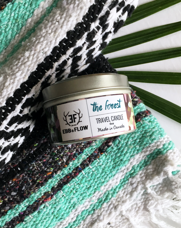 Black Soy Wax Travel Candle - The Forest
