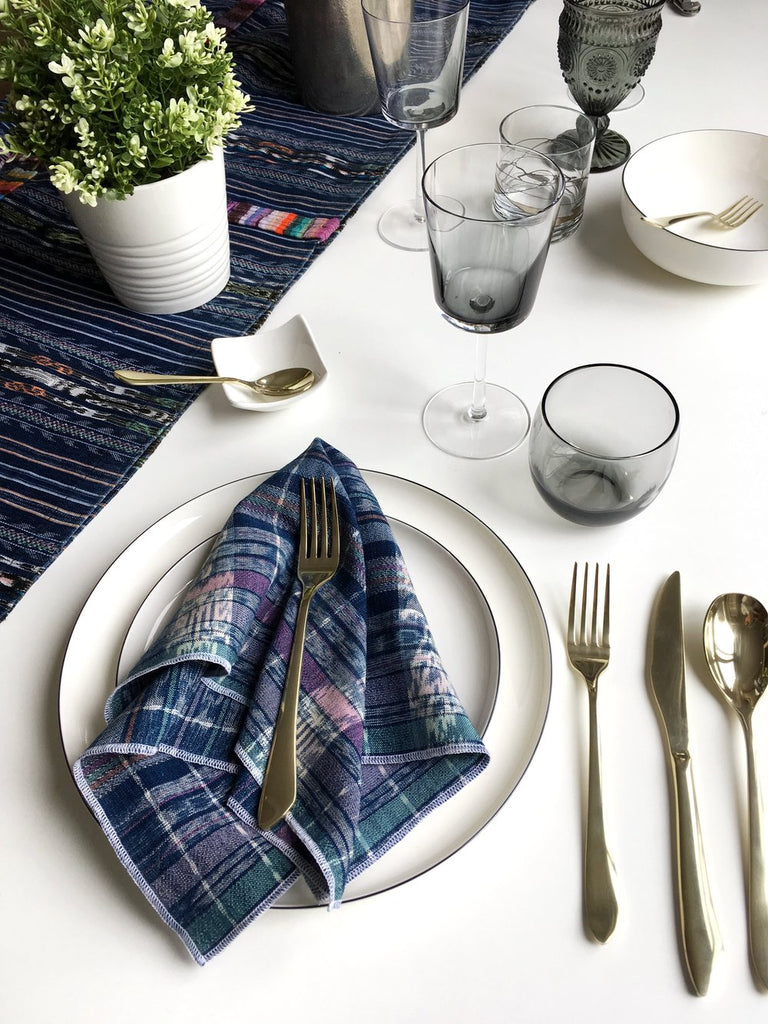 Dark Slate Gray Vintage Corte Table Runner - Prism