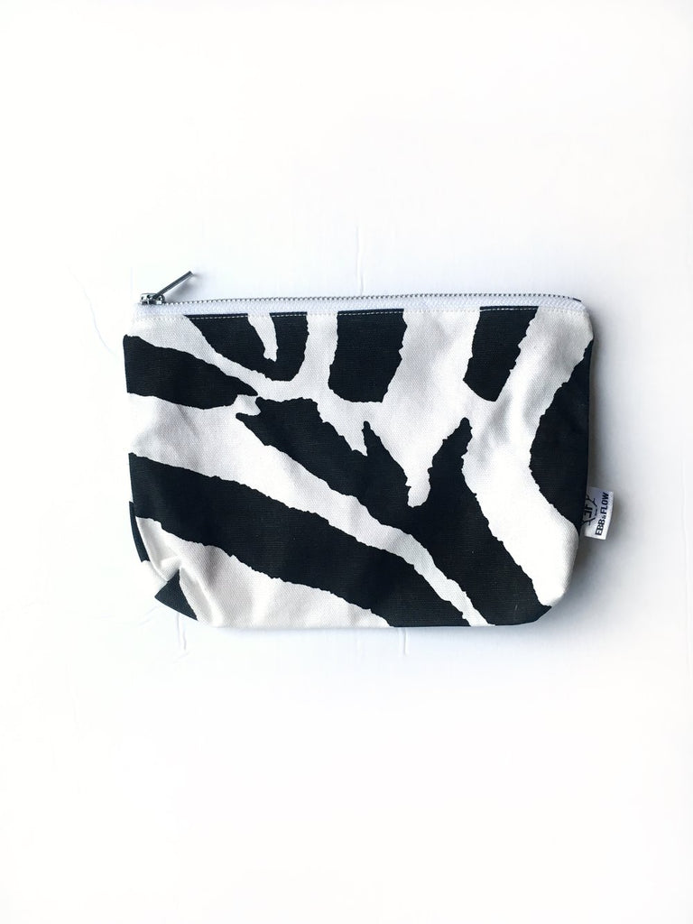 Black La Playa Toiletries Bag - Zebra