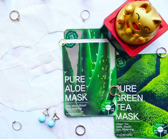 Reviewing Tosowoong Pure Aloe Mask