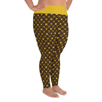Hot Chix Pattern Plus Size Leggings
