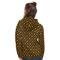 Hot Chix Pattern Unisex Hoodie Yellow