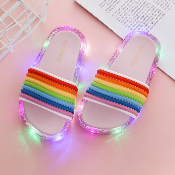 LED LIGHT KIDS SOFT BASE SLIPPER