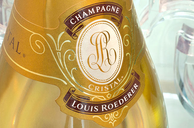 Label of Cristal Champagne