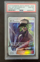 Pokemon PSA 10 GEM MINT N's Resolve Full Art 232/236 Cosmic Eclipse Holo