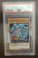 Yugioh Blue-Eyes White Dragon PSA 9 STP1-EN004 Speed Duel Pack 1 MINT 2019