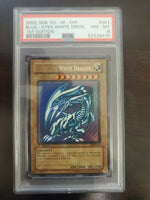 Yugioh PSA 8 NM-MT Blue-Eyes White Dragon SDK-001 1st Edition English Ultra Rare