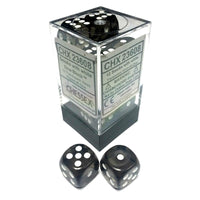 Translucent Smoke/White 16 mm d6 (12 dice)