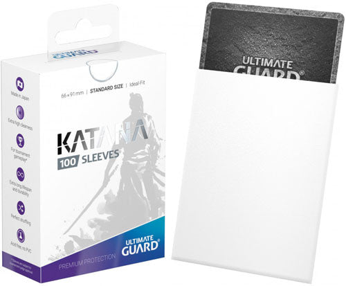 Katana 100 Ct Sleeves White Standard