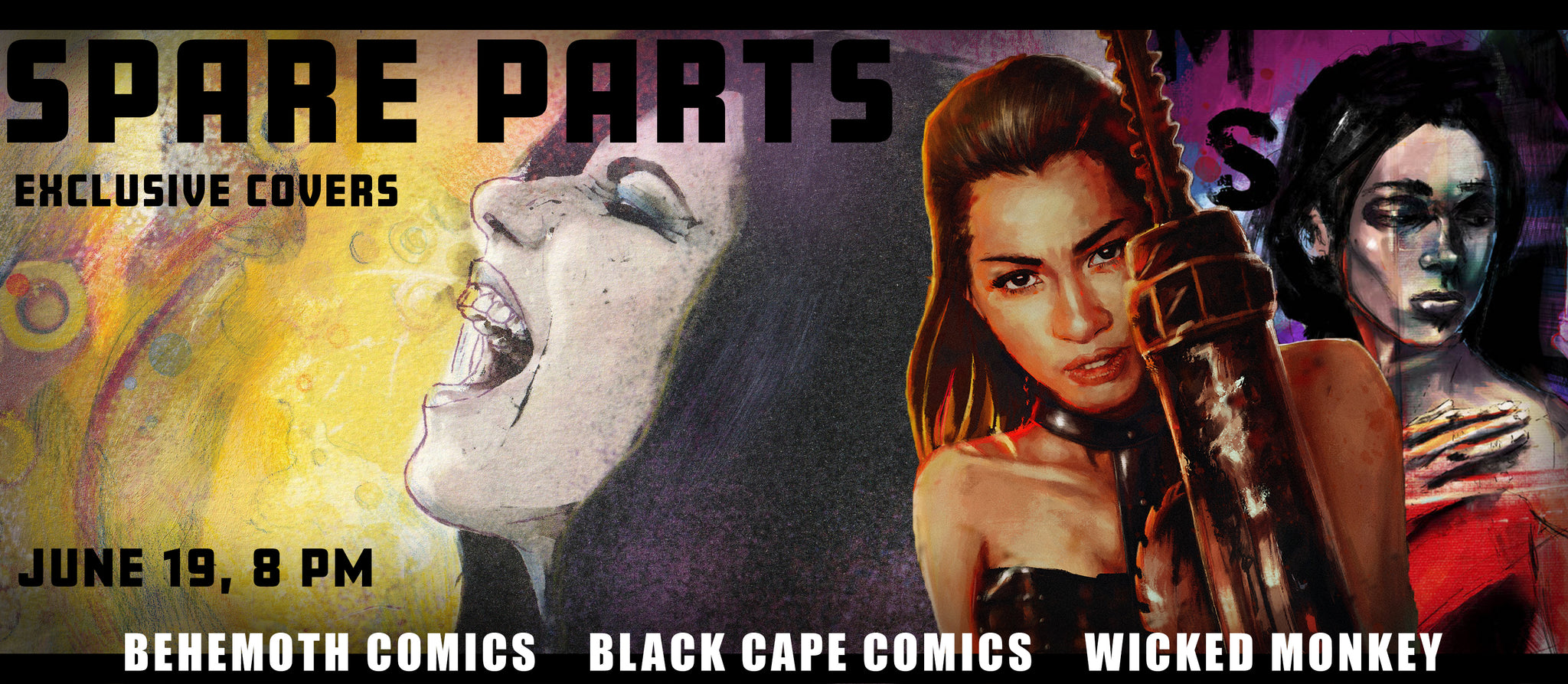 Spare Parts comic exclusive cover