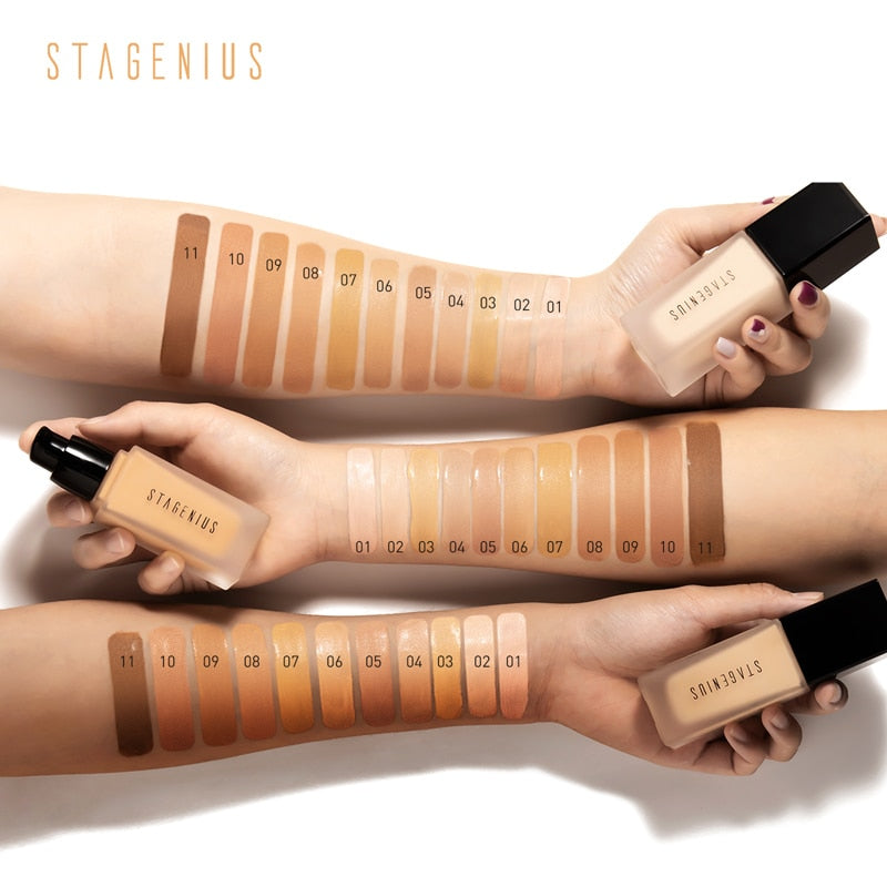STAGENIUS Face Foundation Stick Makeup Matte Full Coverage - BeautyForTen