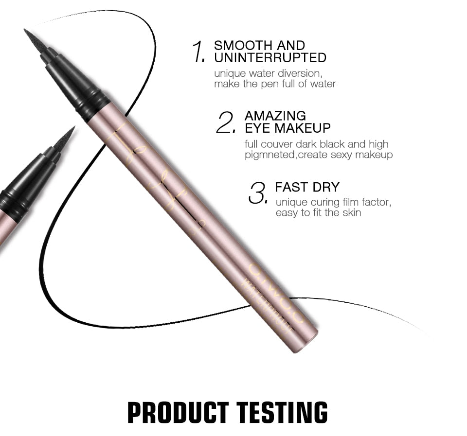 Professional Waterproof Liquid Eyeliner - BeautyForTen