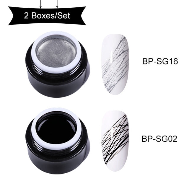 BORN PRETTY Nail Wire Drawing Gel Polish Creative Point - BeautyForTen