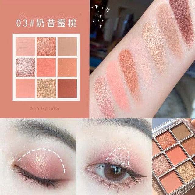 Charming Eyeshadow 9 Colour Palette 9