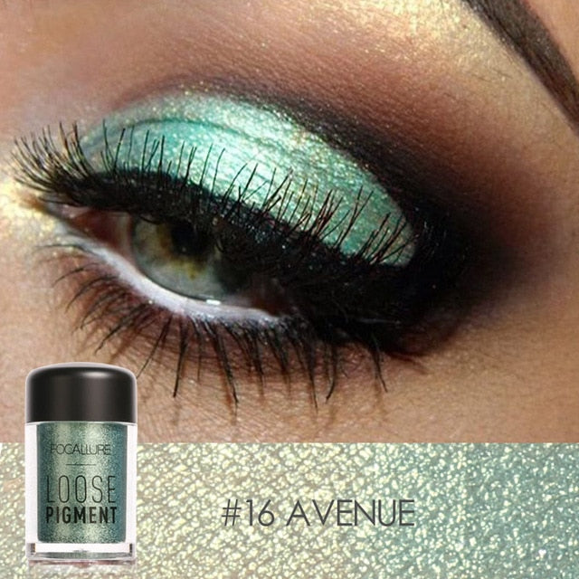 FOCALLURE Glitter Eye Shadow 18 Colours - BeautyForTen