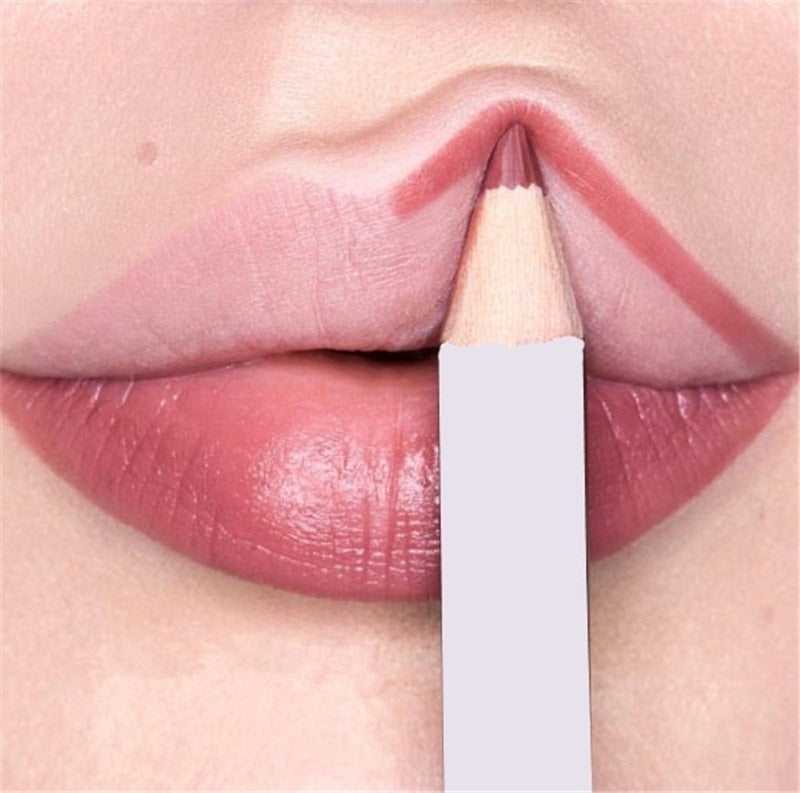 6Pcs/set Cosmetic Professional Wood Lipliner - BeautyForTen