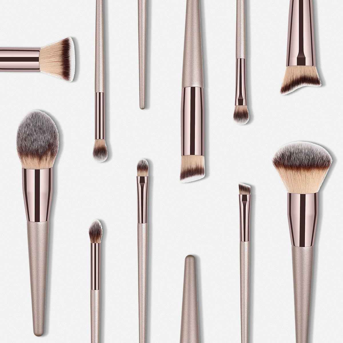 Luxury Champagne Makeup Brushes - BeautyForTen