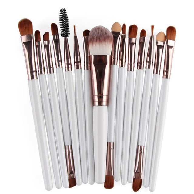 Pro Makeup Brushes Full Set 6/15/18Pcs Cosmetic Powder - BeautyForTen