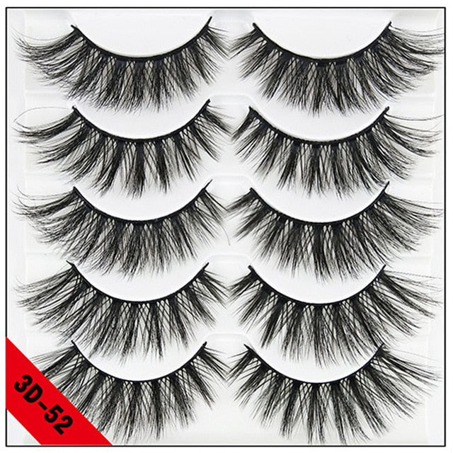 5 pairs natural false eyelashes - BeautyForTen