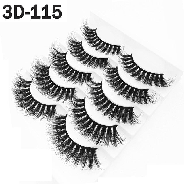 8styles 5/10Pairs/Set  Multipack Natural False Eyelashes - BeautyForTen
