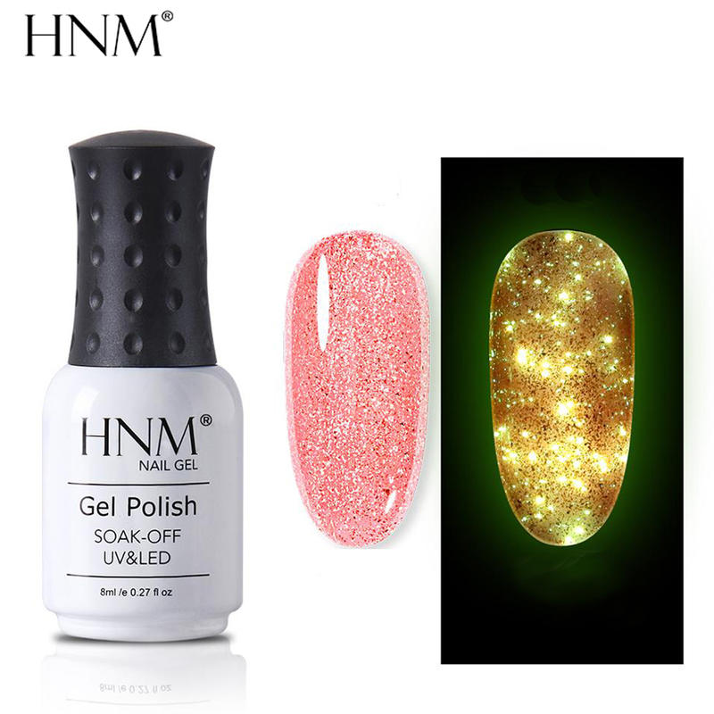 HNM Luminous Rose Gold Nail Gel Polish - BeautyForTen