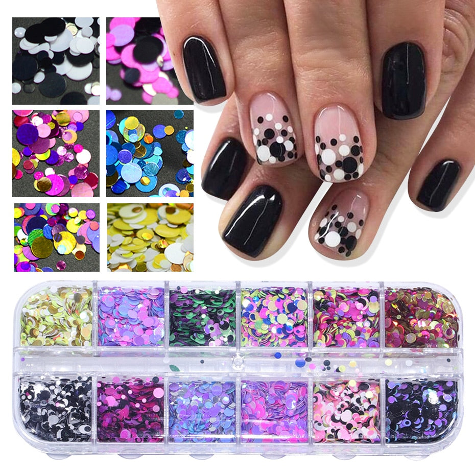 1Set Ultrathin Sequins Nail Art Glitter Mini Paillette - BeautyForTen