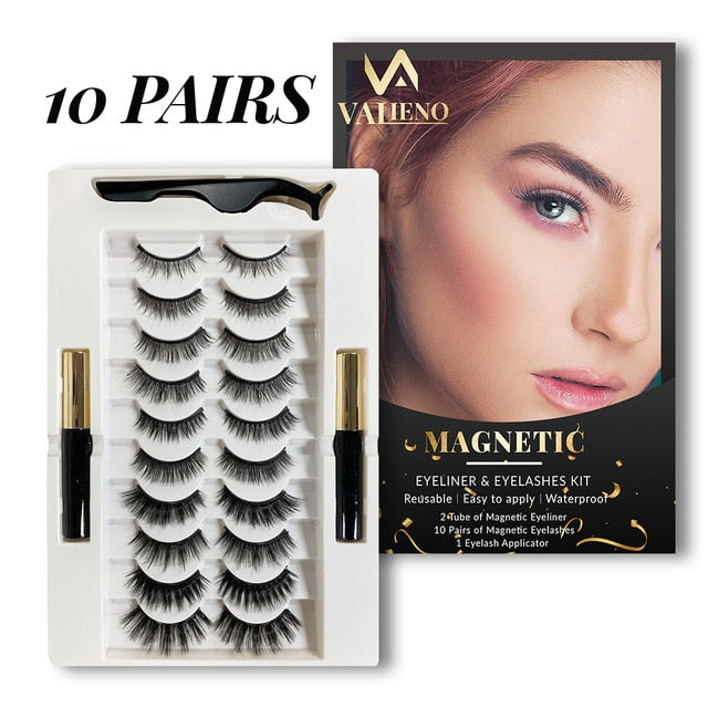 3/5/10pairs mink eyelashes Magnetic Eyelashs Lashes False Eyelashes - BeautyForTen