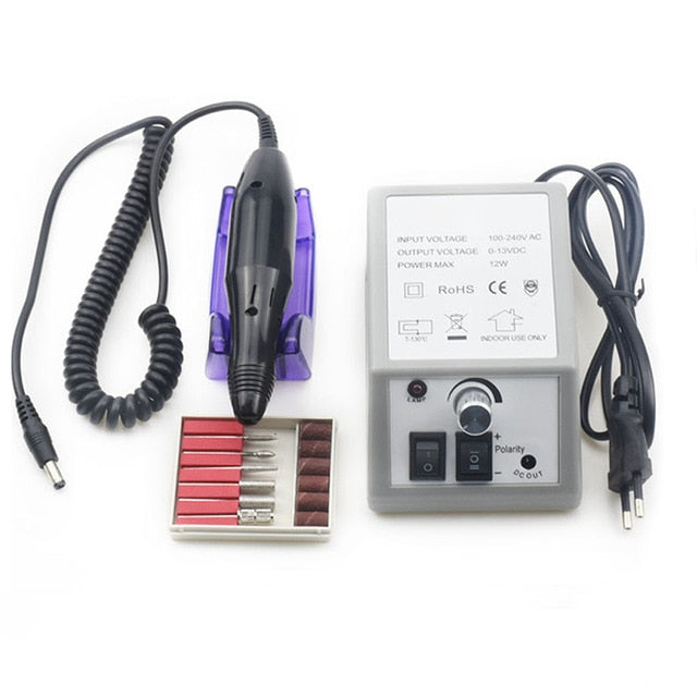 3in1 Multifunction High Efficiency 35000RMPD Nail Drill With UV LED Nail Lamp - BeautyForTen