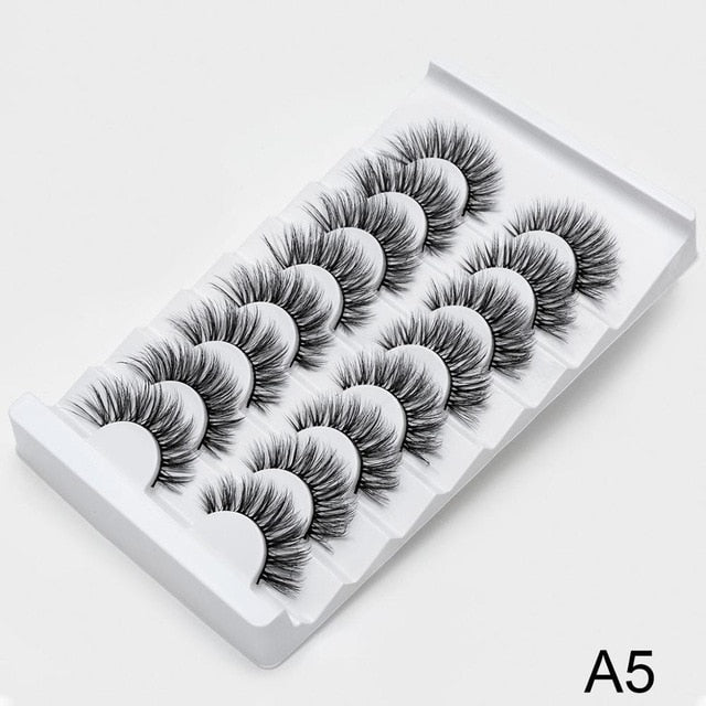 SEXYSHEEP 7 pairs 25mm 3D Faux Mink Lashes Natural - BeautyForTen