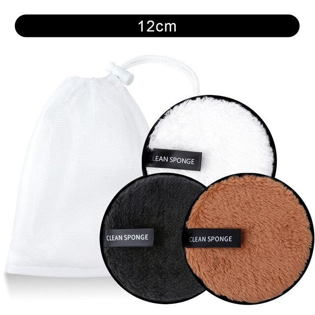 3Pcs Makeup Remover Pads Microfiber Cloth Washable - BeautyForTen