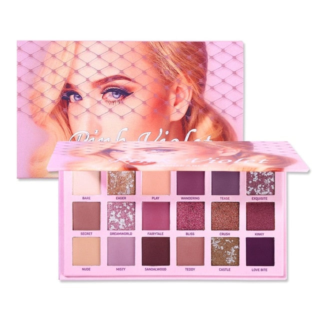 Changeable Pink Violet Nude Eye Shadow Palette - BeautyForTen