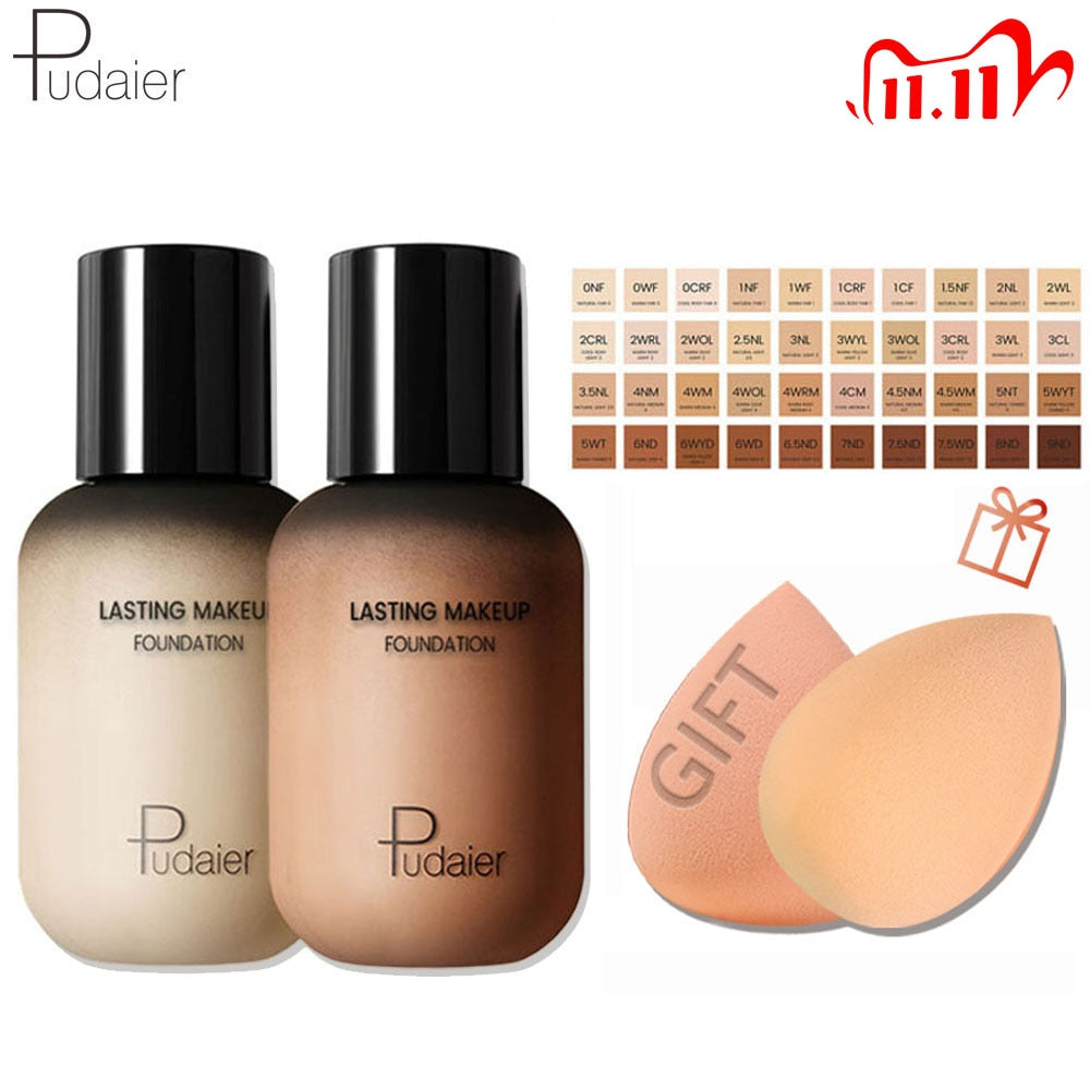 Pudaier Face Foundation Makeup Liquid Foundation Cream Matte - BeautyForTen