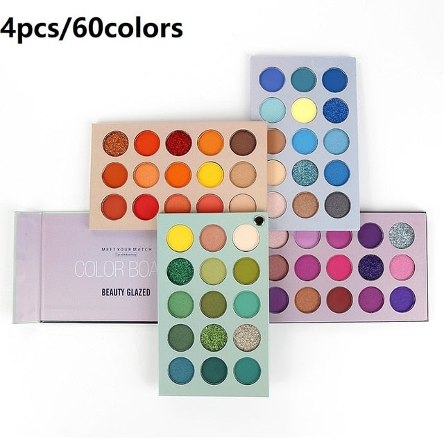 Beauty Glazed 60 Colors Eyeshadow Palette Eye Makeup Matte - BeautyForTen